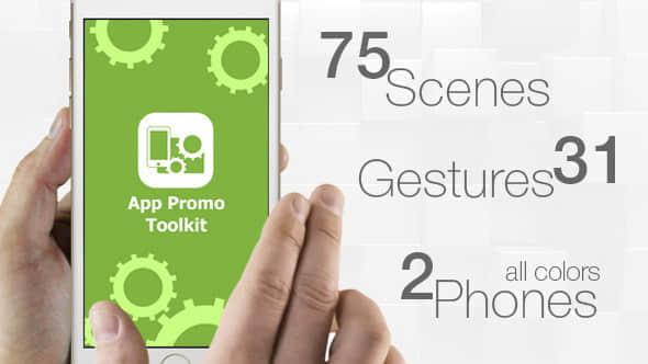 AE模板:手机界面手指触控APP应用操作展示 App Promo Toolkit