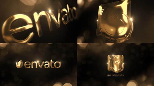 AE模板:优雅金色LOGO标志片头 Elegant Gold Logo Reveal