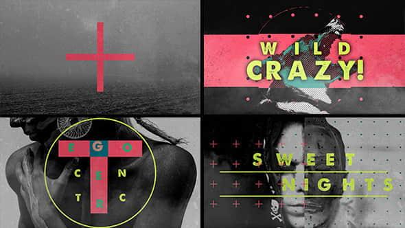 AE模板:污渍视觉风格化动作片头 Sexy Grunge Opener