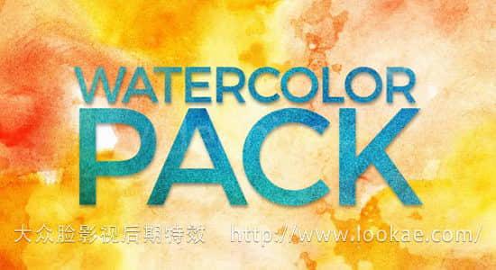 视频素材:22个水墨溶解晕开动画 Watercolor Pack 4K
