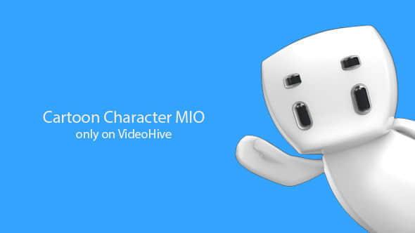 AE模板:可爱白色小机器人动画包 MIO Animation Pack