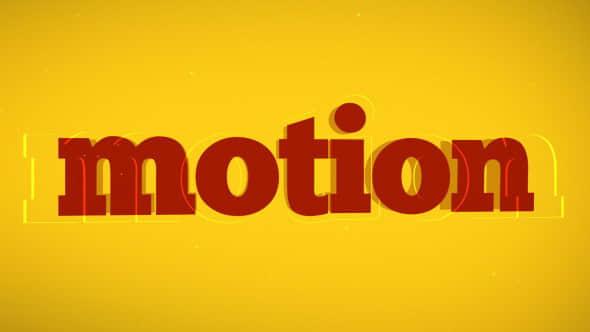 AE模板:炫动文字标题快速切动画 Typo Promo