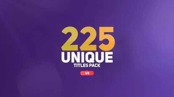 AE模板:225种文字标题字幕条动画 The Titles