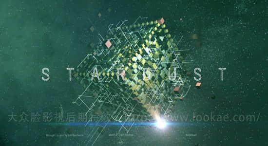 AE教程:使用 Stardust 插件制作三维科技感粒子方块特效动画