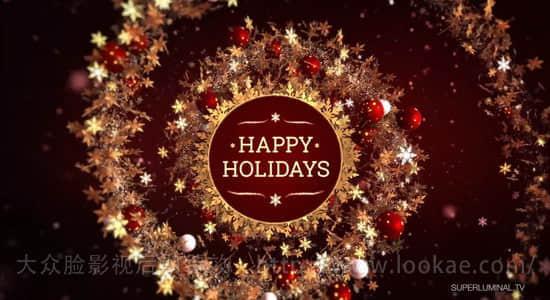 AE教程:使用 Stardust 粒子插件制作圣诞节日快乐特效动画 Happy Holidays