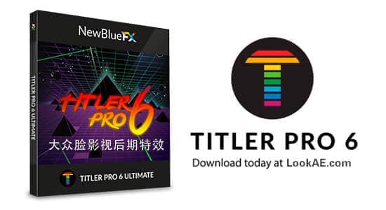 专业文字标题字幕制作插件 NewBlueFX Titler Pro 6.0.180719 Ultimate中文版