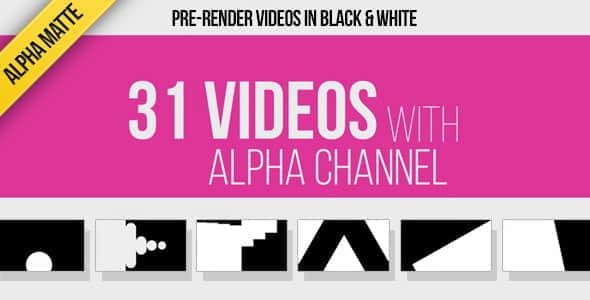 视频素材:31个遮罩蒙版图形转场动画 31 Transitions Alpha Mattes