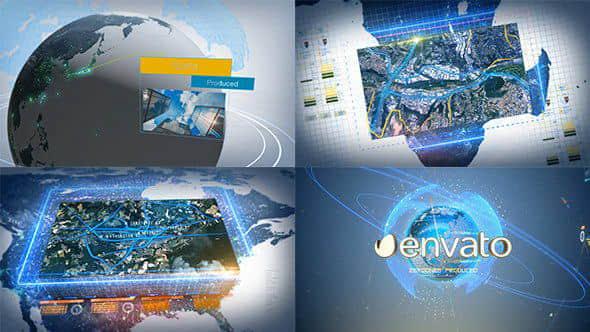 AE模板:高科技数字地球动画展示 Digital Earth Motion Graphics