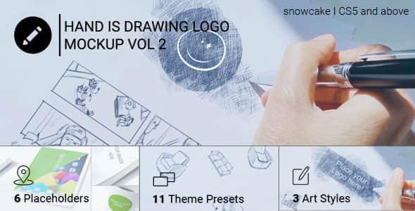 AE模板:实拍手绘素描LOGO动画 Hand Is Drawing Logo Vol.2