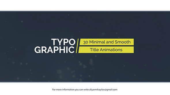 AE模板:30种商务简洁文字标题动画Typographic – 30 Title Animations