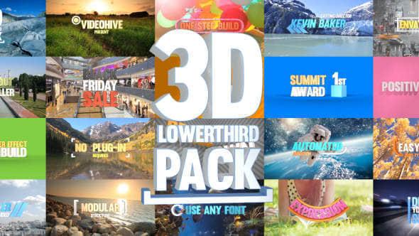 3D Lowerthird Title Pack