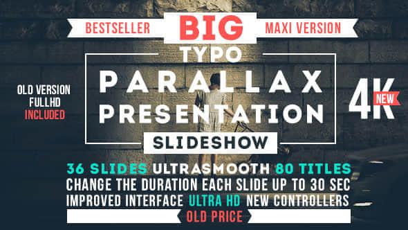 AE模版:超大文字标题排版动画 Big Typo Parallax Presentation