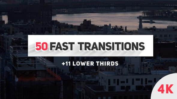 AE模板:50种扁平化图形过渡转场动画 Fast Transitions