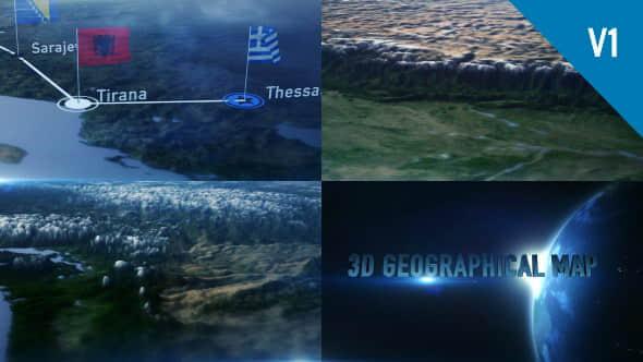 AE模板:三维世界地图定点连线动画展示 3D Geographical Map