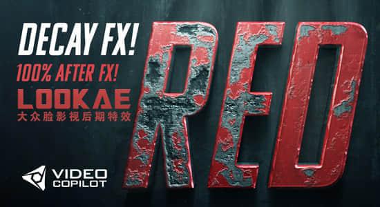 AK第167期AE教程:制作金属腐蚀质感LOGO文字片头 Advanced Damage & Decay FX 含英文字幕