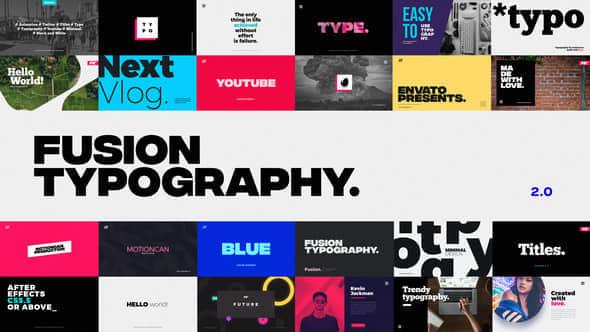 AE模版:现代时尚文字标题动画 Animated Typography
