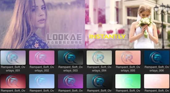 FCPX插件:40种唯美柔和小清新光效闪烁特效 Soft Light Overlays X