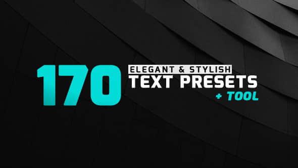 AE脚本+AE预设:170种优雅文字标题预设动画 170 Elegant & Stylish Text Presets