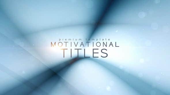 Motivational Titles
