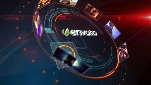 AE模板:科技环形图片展示片头 Opener Displays