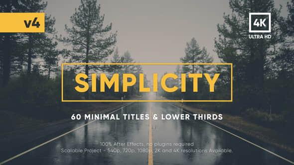 AE模板:60种现代时尚简介文字标题排版动画 Simplicity Title Pack