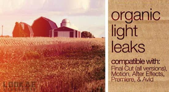 153个炫光素材 + FCPX插件控制 FCPeffects – Organic Light Leaks