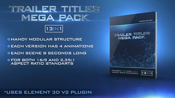 Trailer Titles Pack