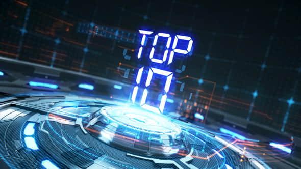 AE模板:科技感倒计时转场效果 Top 10 Countdown Transitions