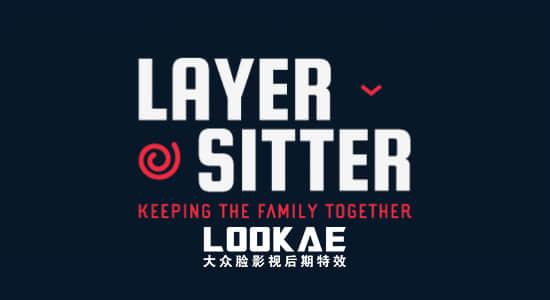 AE脚本:快速图层父子链接Aescripts Layer Sitter v1.2 + 视频教程