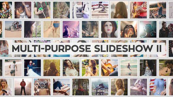 AE模板:多图片排列幻灯片展示 Multi-Purpose Slideshow II