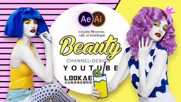 AE模板:时尚流行美妆栏目包装宣传动画 Beauty Youtube Design Pack