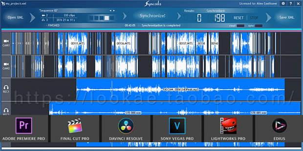 多机位自动对视频音频同步工具 Syncaila 1.3.2 Win 中文破解版(吾爱破解)