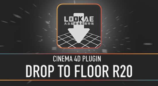 C4D插件:地面对齐插件 Drop To Floor 支持Cinema 4D R14 – R20 Win/Mac