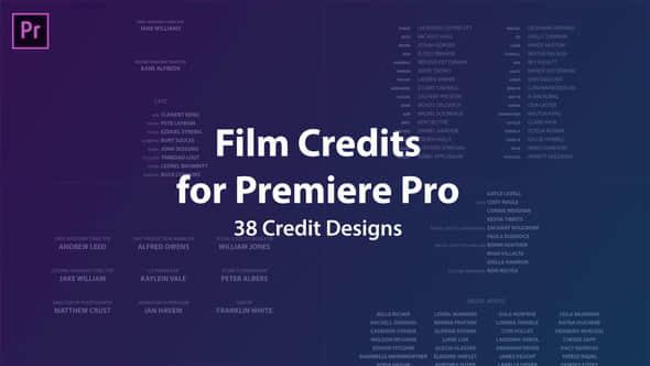 Film Credits Kit
