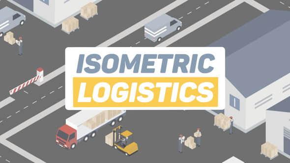 AE模板:三维等距物流快递运输MG场景动画 Isometric Logistics