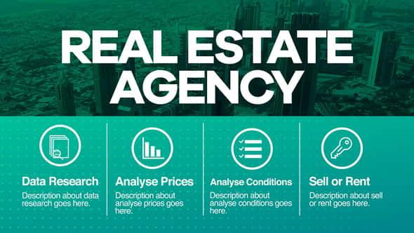 AE模板:房地产中介公司商务介绍展示 Real Estate Agency