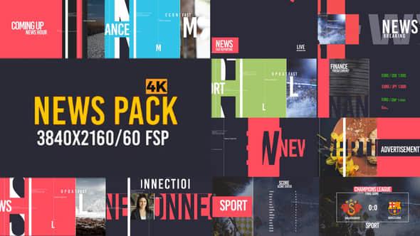 AE模版-时尚图形设计新闻栏目包装 News Pack V2