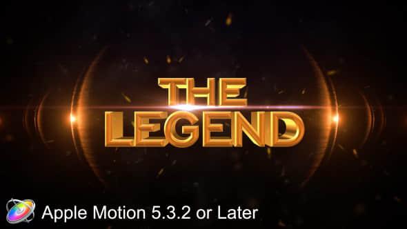 Apple Motion模板:大气火星粒子文字视频宣传片头 The Legend Cinematic