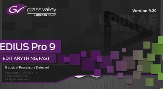 专业非线性视频编辑剪辑软件 Grass Valley EDIUS Pro 9.20.3340 破解版