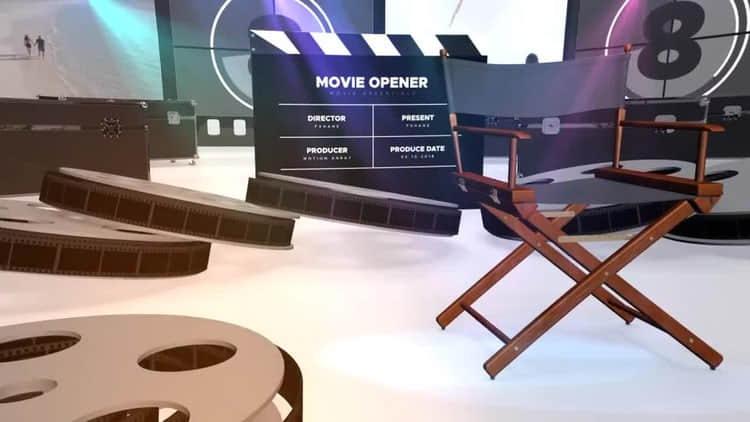 AE模板-电影设备影视公司工作室片头  Movie Opener