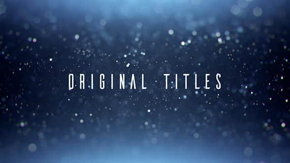 AE模板-漂亮唯美粒子光斑文字标题展示 Original Titles