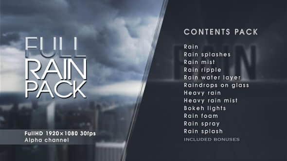 Full Rain Pack