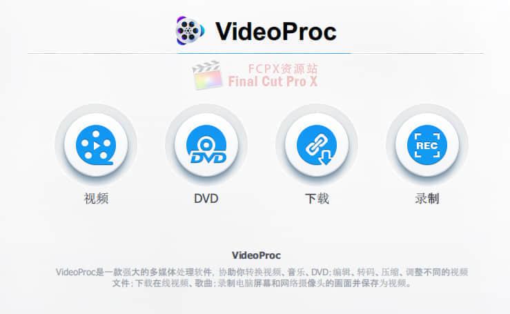 视频处理格式转换转码软件 VideoProc 3.2 (201901110) Mac 中文破解版