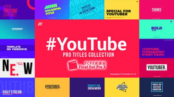 FCPX插件 – 30种大文字标题排版设计动画 YouTube Titles Collection