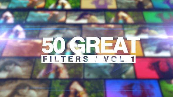 Apple Motion模板 – 50种视频调色滤镜预设 50 Great Filters