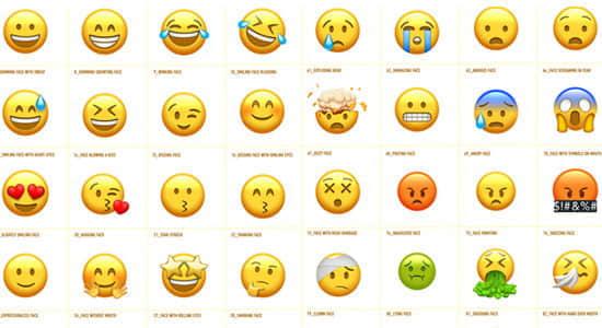 AE模板-102个可爱卡通社交网络Emoji表情动画+渲染好的视频素材