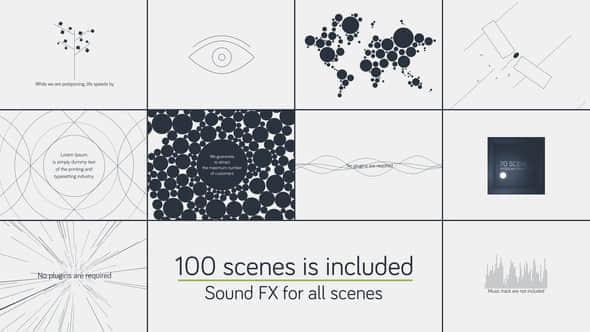 AE模板 – 100种高端迷你简洁MG创意片头动画Minimalistic Presentation Pack