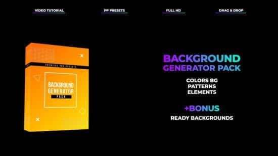 Premiere预设-61个时尚渐变动画背景Pr预设 Background Generator Pack
