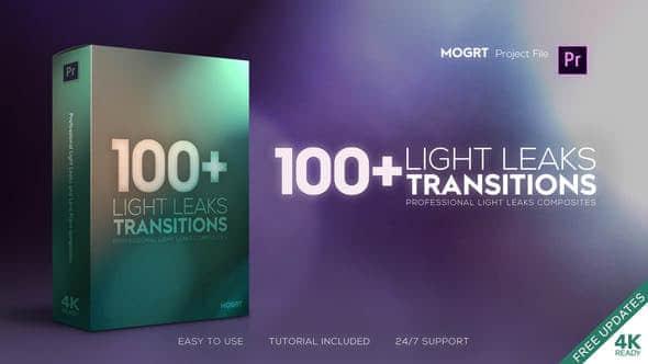 Light Leaks Transitions MOGRT