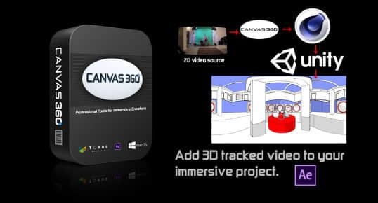 AE脚本-VR全景视觉合成工具 Aescripts Canvas 360 Pro v1.61插图